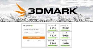 Benchmark 3DMark CPU Profile