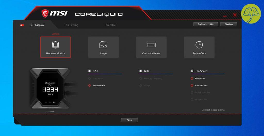 Application CoreLiquid