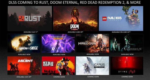 Liste des nouveaux jeux prenant en charge les technologies Ray Tracing et DLSS (Nvidia
