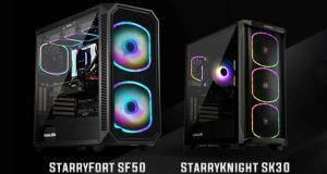 Boitiers StarryFort SF50 et StarryKnight SK30 d'Enermax