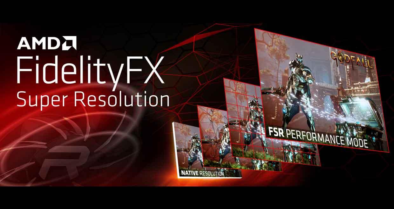 Technologie FSR d'AMD alias le FidelityFX SuperResolution