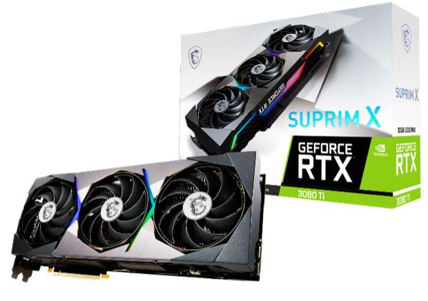 GeForce RTX 3080 Ti Suprim X de MSI