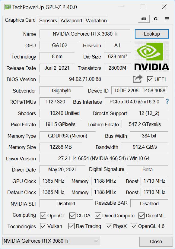 Gaming OC - GPU-Z