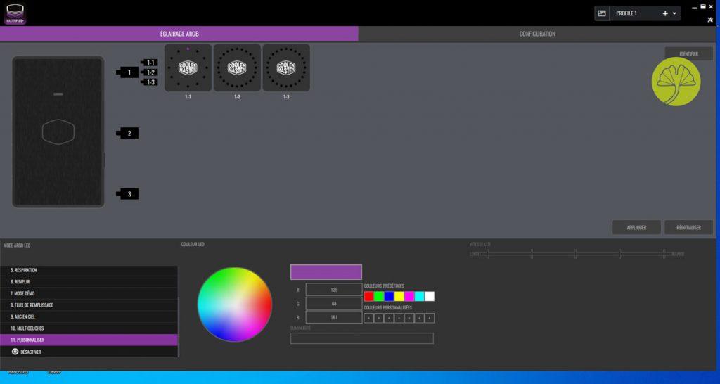 MasterLiquid ML240 Illusion - Application sous Windows 10