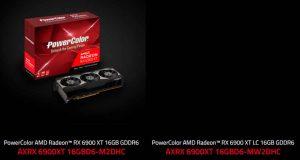 La Radeon RX 6900 XT LC « AXRX 6900XT 16GBD6-MW2DHC » de PowerColor