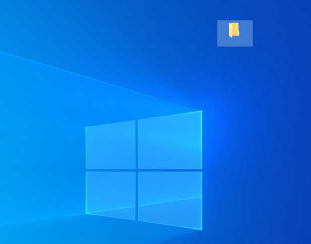 Windows 10 - Icône sans nom sur le bureau