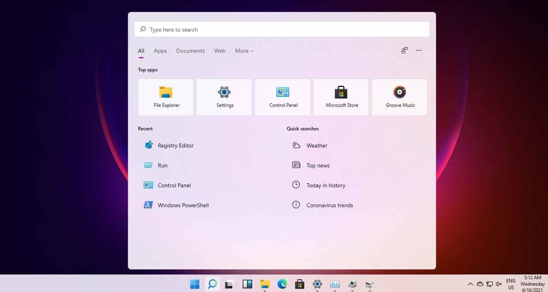 Windows 11, l'interface du bureau