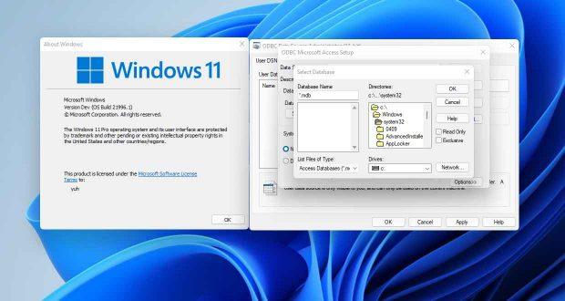 Interface de Windows 11, une boite de dialogue de l'époque de Windows 3.1 fait son apparition