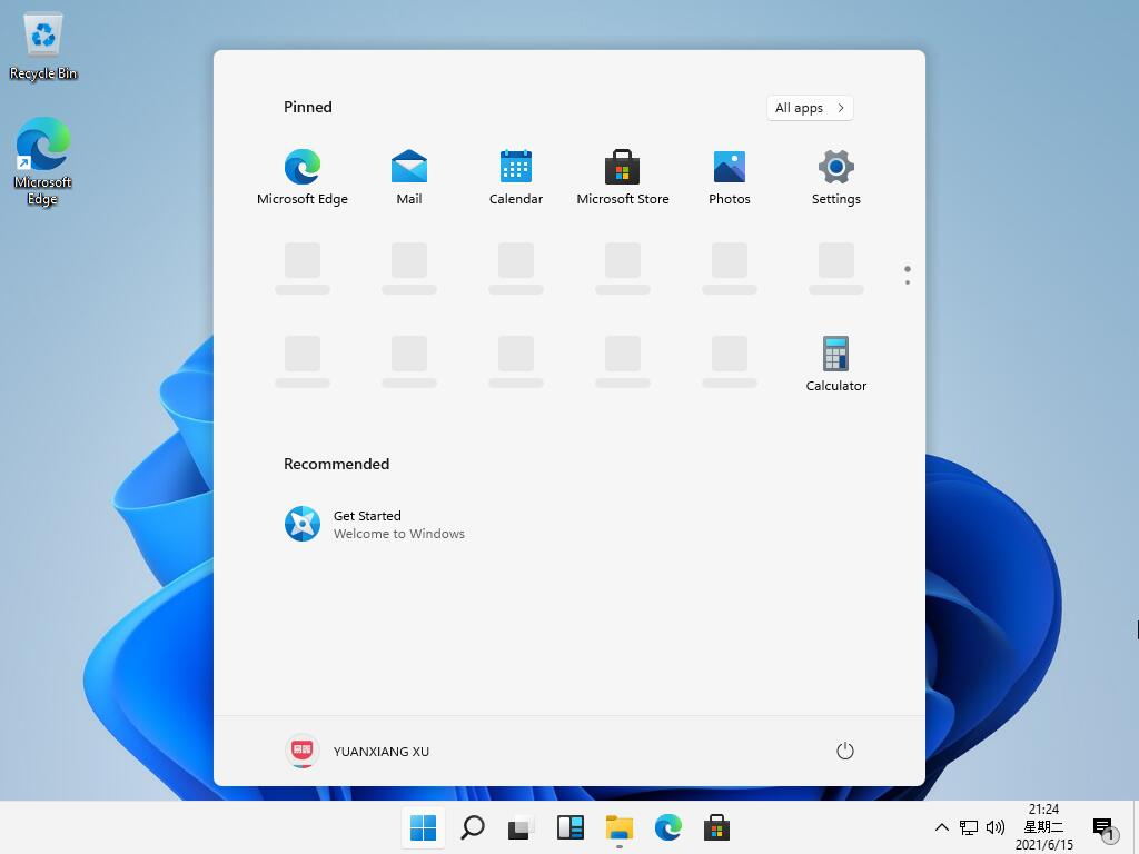 Windows 11 - Menu Démarrer