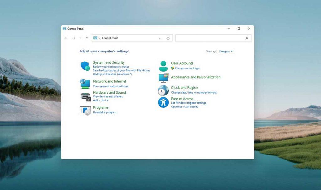 Windows 11 et le panneau de configuration