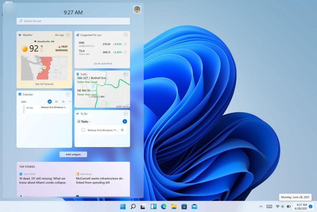 Windows 11 et les Widgets