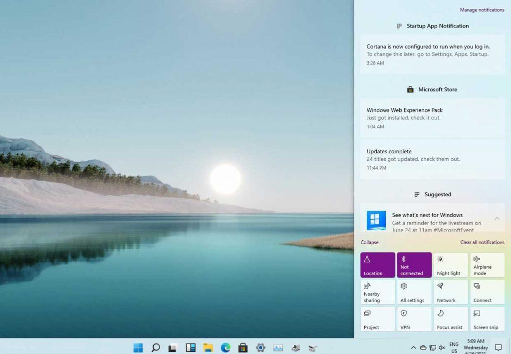 Windows 11 et le centre de notification
