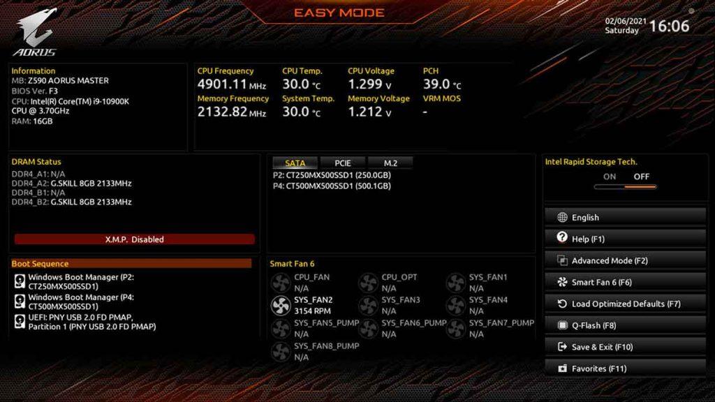 BIOS Aorus (Gigabyte) - Mode Easy