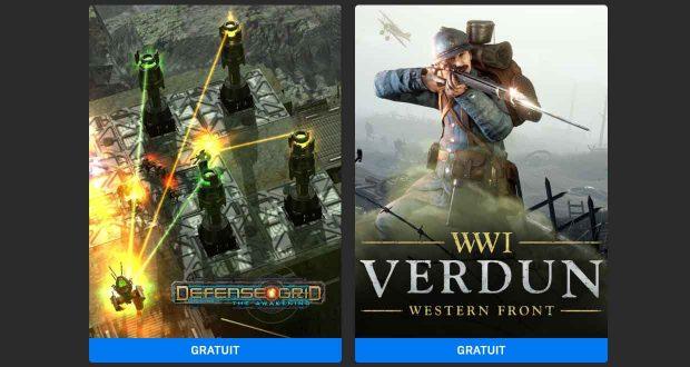 L'Epic Games Store – Jeux gratuits Defense Grid: The Awakening et Verdun