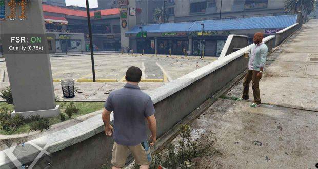 GTA 5 (Grand Theft Auto 5), prise en charge du FSR d'AMD