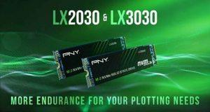 SSD M.2 NVMe PCIe 3.0 x4 LX2030 et LX3030 de PNY