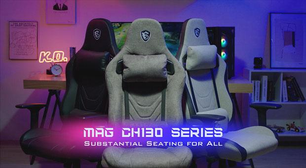Famille de chaise gaming MAG CH130 de MSI