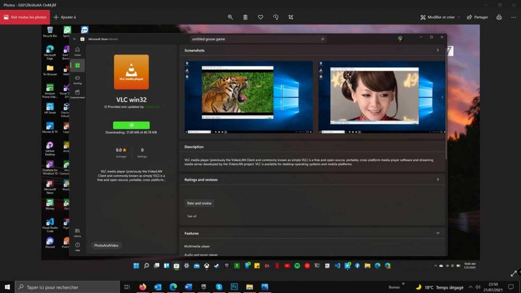VLC Win32 est disponible sur le Microsoft Store de Windows 11