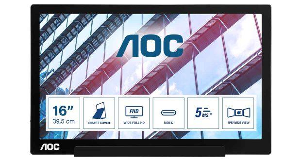 Moniteur portable I1601P d'AOC