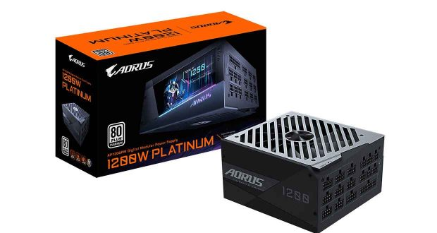 Alimentation 80 Plus Platinum Aorus P1200W de Gigabyte