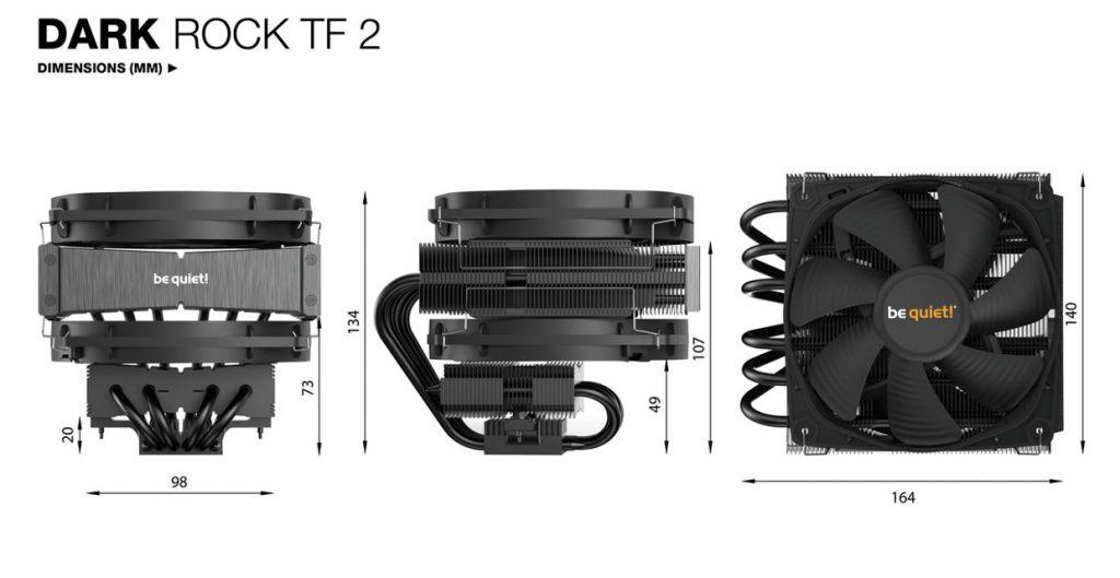 Dark Rock TF 2, les dimensions