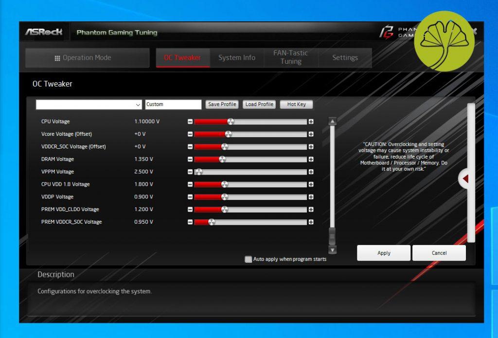 Application Phantom Gaming Tuning