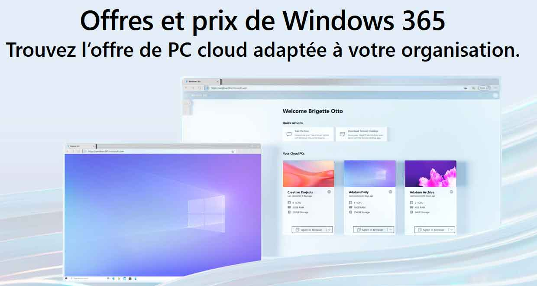 Service de streaming PC Cloud Windows 365