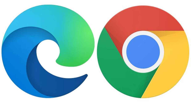 Navigateurs Chrome de Google et Edge de Microsoft