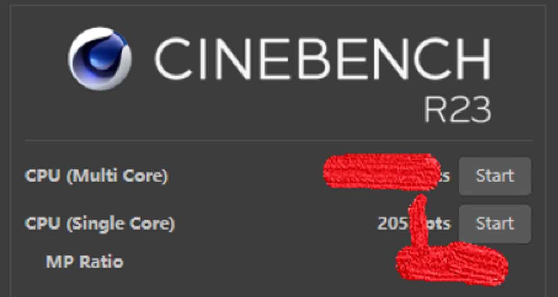 Performances du Core i9-12900K sous Cinebench R23