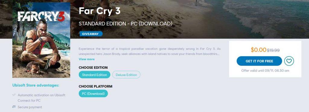 Far Cry 3 est gratuit sur l'Ubisoft Store