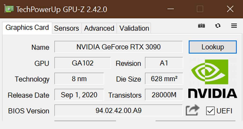 Utilitaire GPU-Z v2.42.0