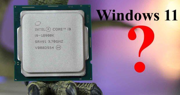 Windows 11 - la liste de tous les processeurs pris en charge
