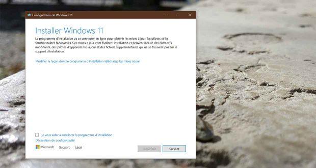 Installation de Windows 11