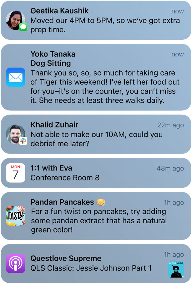 iOS 15 et les notifications