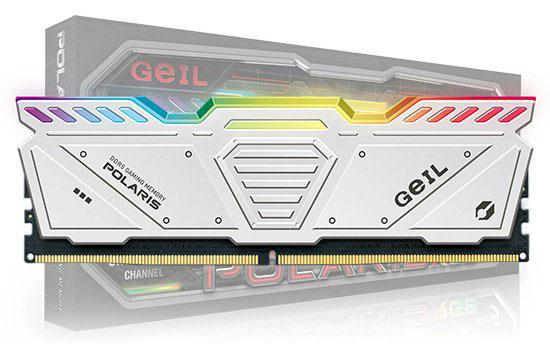Barrette mémoire GEIL Polaris DDR5 (blanche)