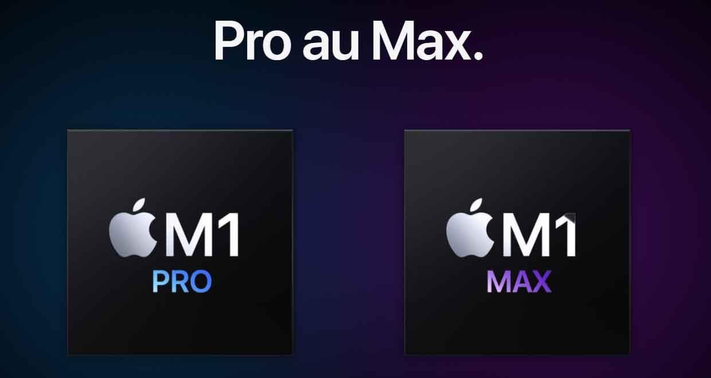 Processeurs Apple M1 Pro et M1 Max