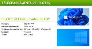 Pilotes graphiques GeForce Game Ready