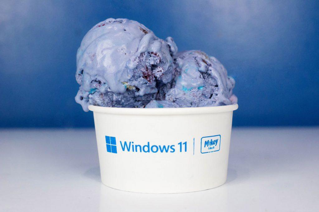 Glace Windows 11 aux myrtilles