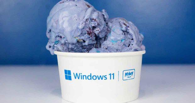 "Glace ""Bloomberry"" Windows 11 aux myrtilles"