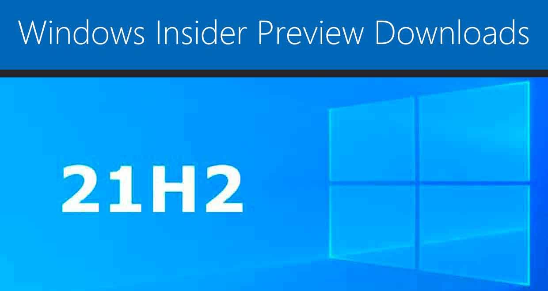 Windows 10 21H2 alias November 2021 Update