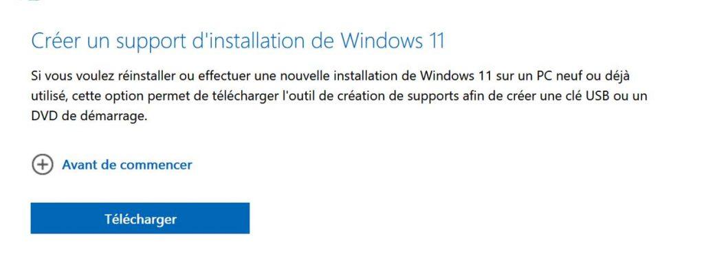 Créer un support d'installation de Windows 11