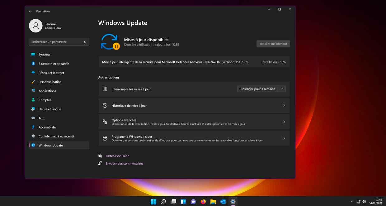 Windows Update de Windows 11
