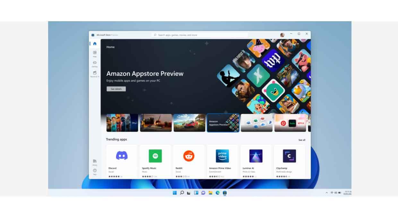 Windows 11 et la prise en charge des Applications Android